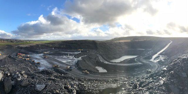 open coal mine
